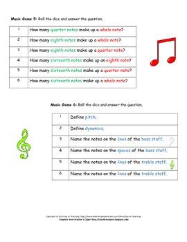 Basic Music Dice Games