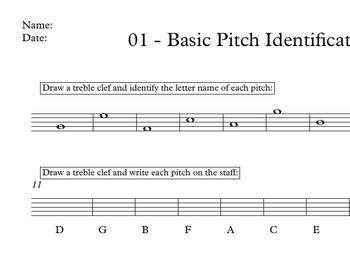 Basic Music Theory - 01 Basic Pitch / Note Name Identification