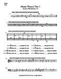 Basic Music Theory Worksheets - Test 1 (Review of Sets 1-3)
