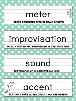 31 Musical Term Handwriting Practice Tracing Cards with Definitions