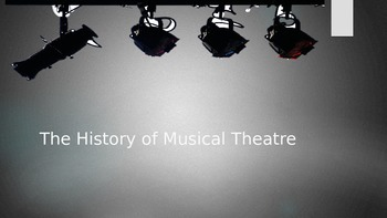 Basic Musical Theatre History
