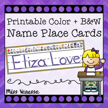 Basic Black and White Name Plates With Upper & Lower Case