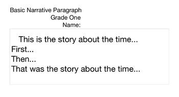 Basic Narrative Paragraph Template
