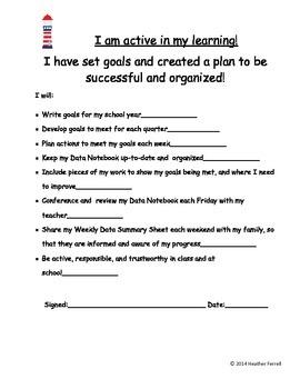 Basic Nautical Themed Data Notebook