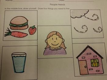Basic Needs Activities pack Social Studies