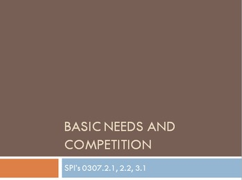Basic Needs and Competition