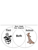 Basic Needs of Plants & Animals Venn Diagram Tab Book