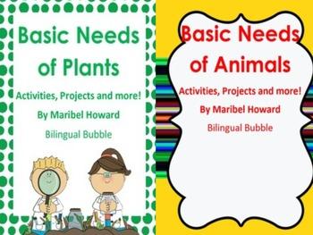 basic needs of plants and animals bundle by bilingual. Black Bedroom Furniture Sets. Home Design Ideas