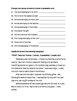 Basic Nouns Quiz