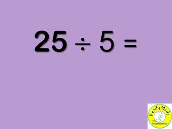 Basic Number Facts Warm Up PowerPoints Multiply and Divide 5