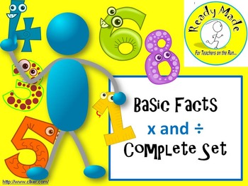 Basic Number Facts Warm Up  PowerPoints Multiply and Divide Full Set