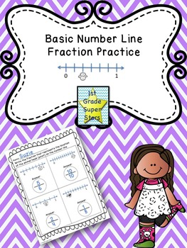 Basic Number Line Fraction Practice