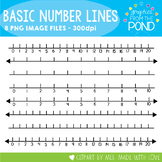 Basic Number Lines - Clipart for Teachers and Classrooms
