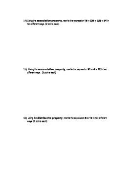 Basic Number Properties Quiz