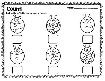 Basic Number Sense Counting Packet in English