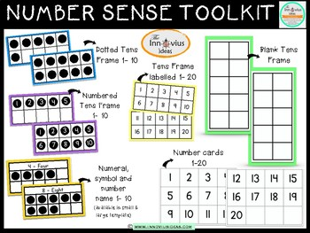 Basic Number Sense with Tens Frame