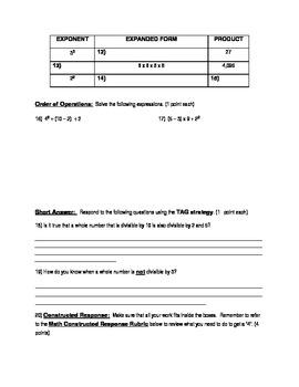 Basic Numbers Quiz