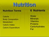 Basic Nutriton Presentation; Powerpoint