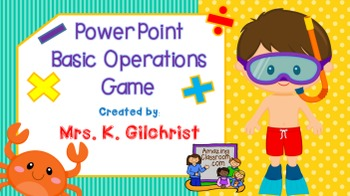 Basic Operations Animated PowerPoint Game {2013 PowerPoint ONLY}