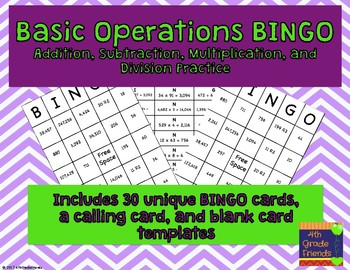 Basic Operations BINGO