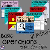 Basic Operations Error Analysis BUNDLE 4th Grade {4.NBT.4,