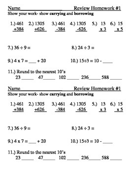 addition subtraction multiplication division rounding