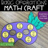 Basic Operations Mardi Gras or Superhero Mask Math Craft