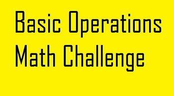 Basic Operations Math Challenge