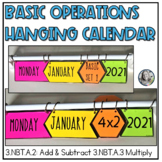 Basic Operations Math Hanging Classroom Calendar
