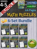 Math Puzzles and Challenges Bundle - Print and Digital Versions