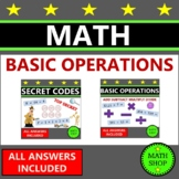 Basic Operations Math Worksheets Basic Addition and Subtraction Multiplication