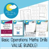 Basic Operations Maths Drill VALUE BUNDLE!
