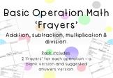 Basic Operations Maths 'Frayers' - Dollar Deals