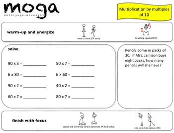 Basic Ops MOGA: Gr. 3-4 (Math/Yoga to Practice Addition, Subtraction, Multiplic)
