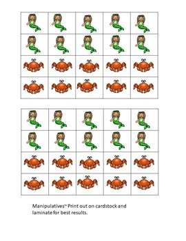 Basic Operations Problem Solving Mermaid and Crab Math Center ~ Quick set up!
