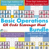 Basic Operations QR Code Scavenger Hunt 4 Pack BUNDLE