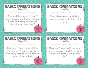 Basic Operations Task Cards