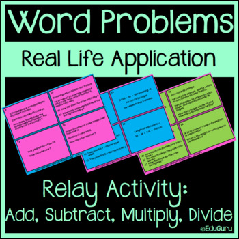Basic Operations Word Problems Relay Whole Class Activity