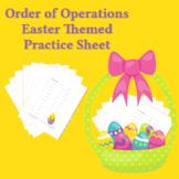 Basic Operations Worksheet Secular Easter Theme