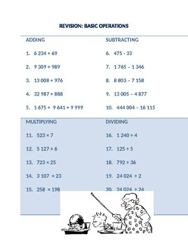 Basic Operations and Decimal Fractions