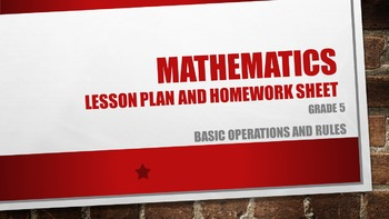 Basic Operations and Rules  Grade 5