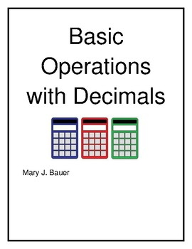 Basic Operations with Decimals