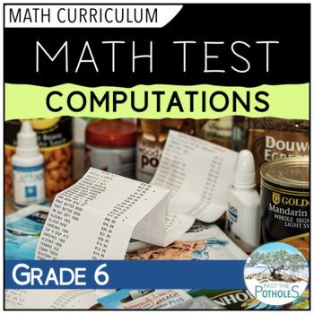 Basic Operations/Computations Math Unit Test - assessment