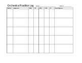 Basic Orchestra Practice Log - Customizable