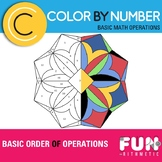 Basic Order of Operations Color by Number