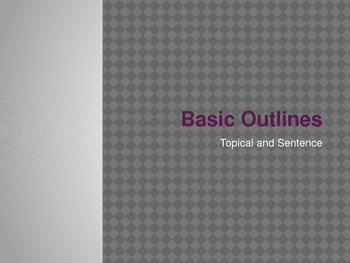Basic Outlines Power Point Presentation