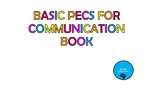 Basic PECS for Communication Book