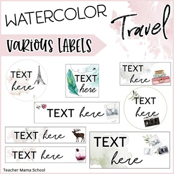 Basic Pack of Editable Labels - Travel the World Theme