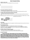 Basic Paragraph Writing Guide