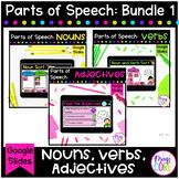 Basic Parts of Speech Bundle Digital Activities Google Sli